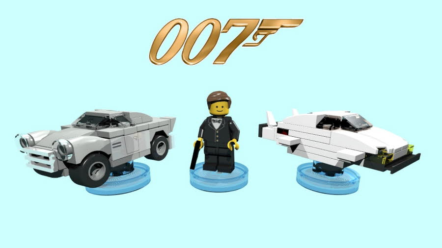 James Bond & Aston Martin & Lotus Espirit Submarine