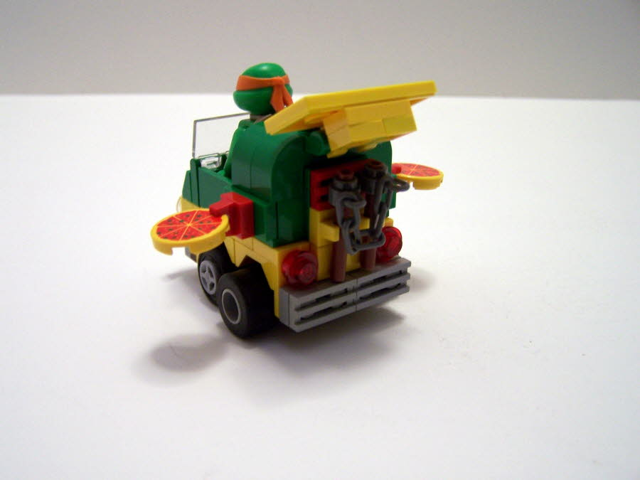Mighty Micro Turtles Pizza Wagon Rear