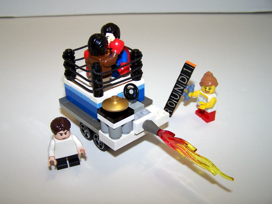 Superman VS Muhammad Ali Mighty Micro, Referee, and Ring Girl Rear View