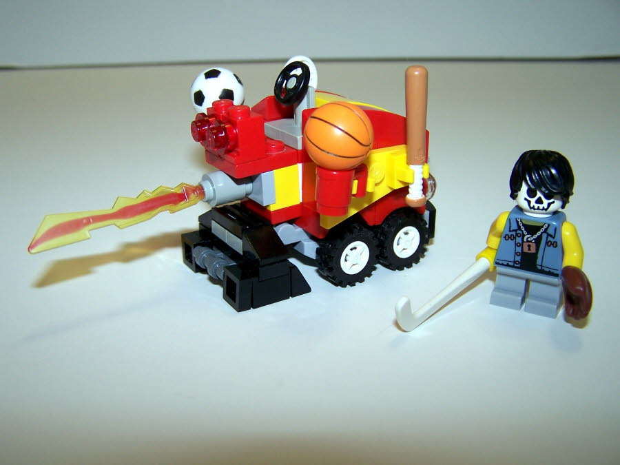 Casey Jones Battle Zamboni With Ball Launchers Rear View